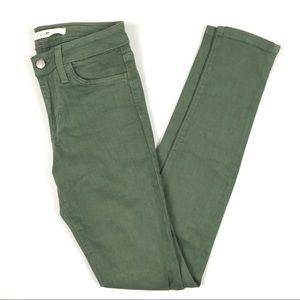 Joe's Jeans Midrise The Skinny Green Denim Pants